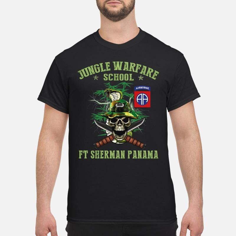 Airborne jungle warfare school ft sherman panama snake skull shirt