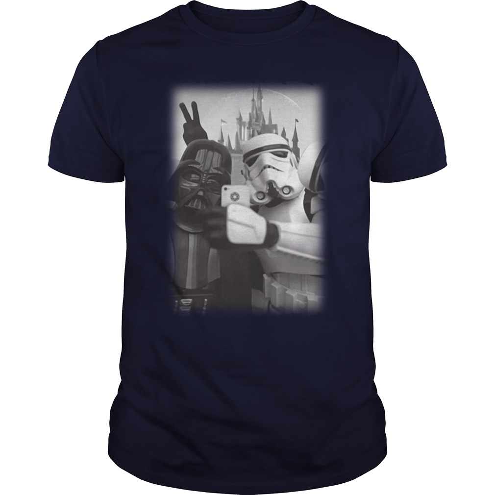 Darth Vader And Stormtrooper Selfie in Disneyland shirt
