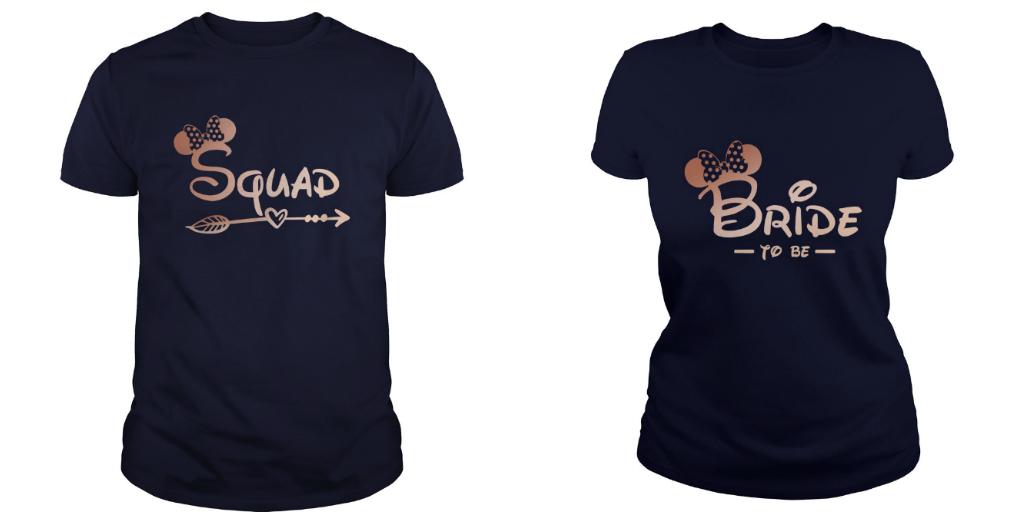 Minnie mouse bride squad Bachelorette party shirt