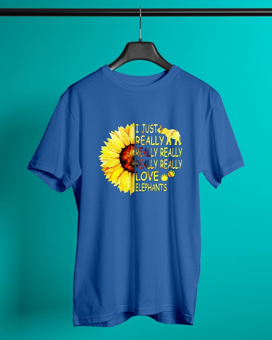 Sunflower I just really really love elephants shirt