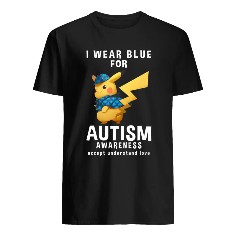 Detective Pikachu I Wear Blue For Autism Awareness Accept Understand Love shirt