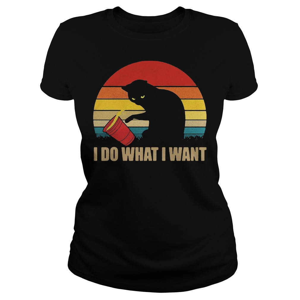 Official I do what I want Cat Shirt