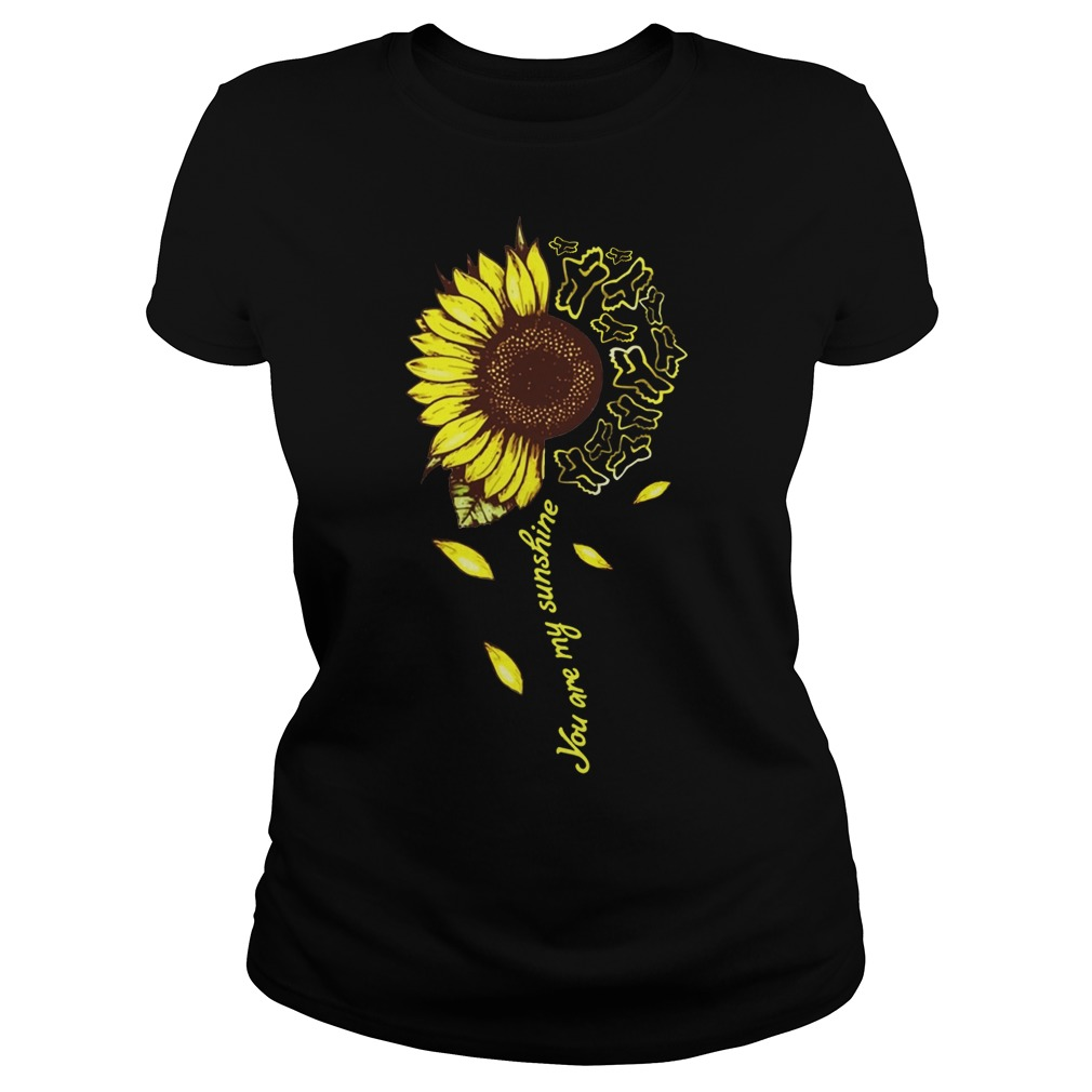 Sunflower Fox racing you are my sunshine shirt