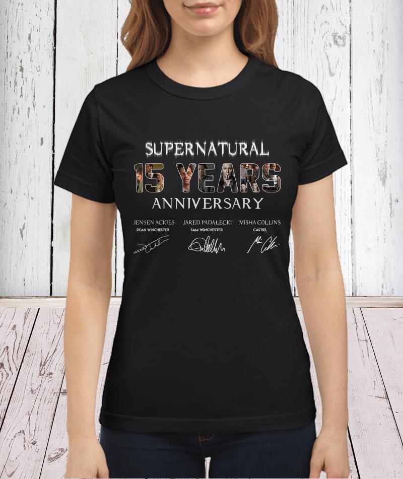 SuperNatural 15 years anniversary shirt
