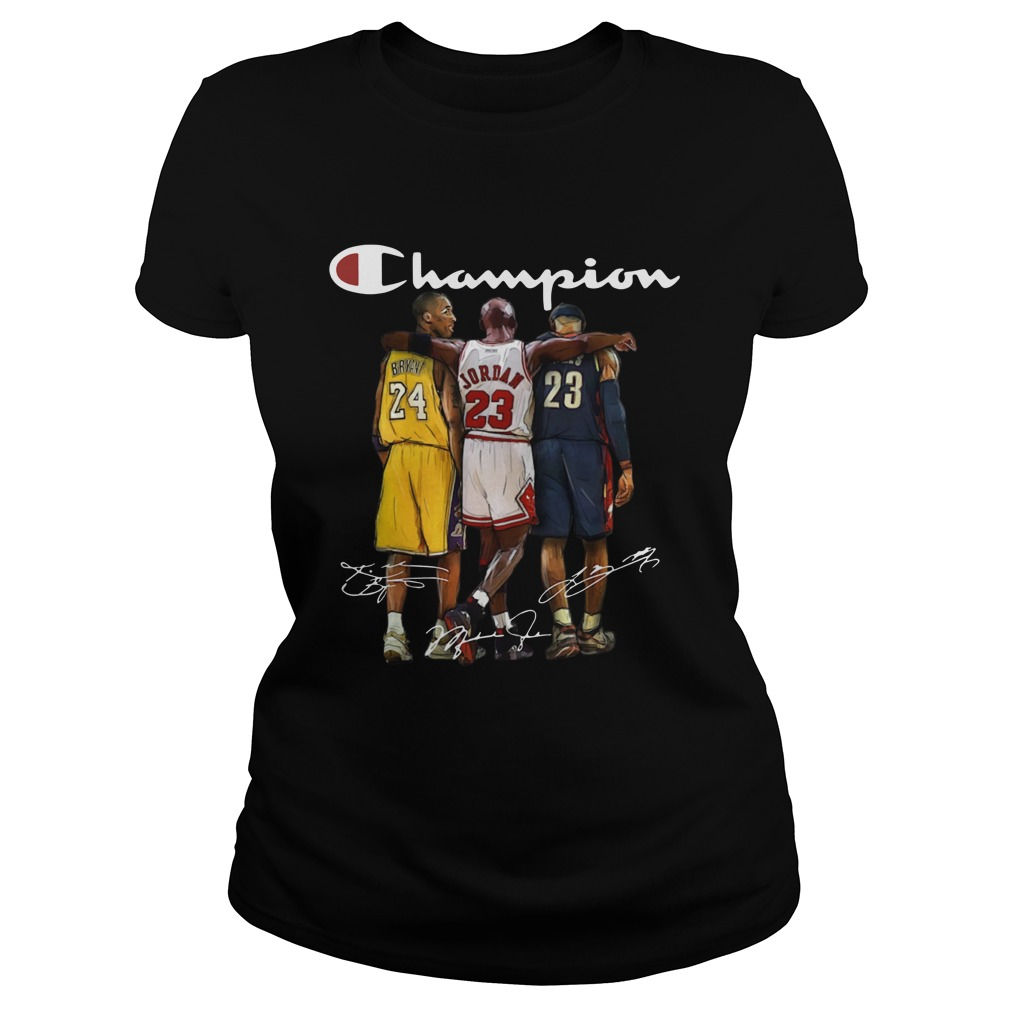 Kobe Bryant, Michael Jordan, And Lebron James Champion Shirt