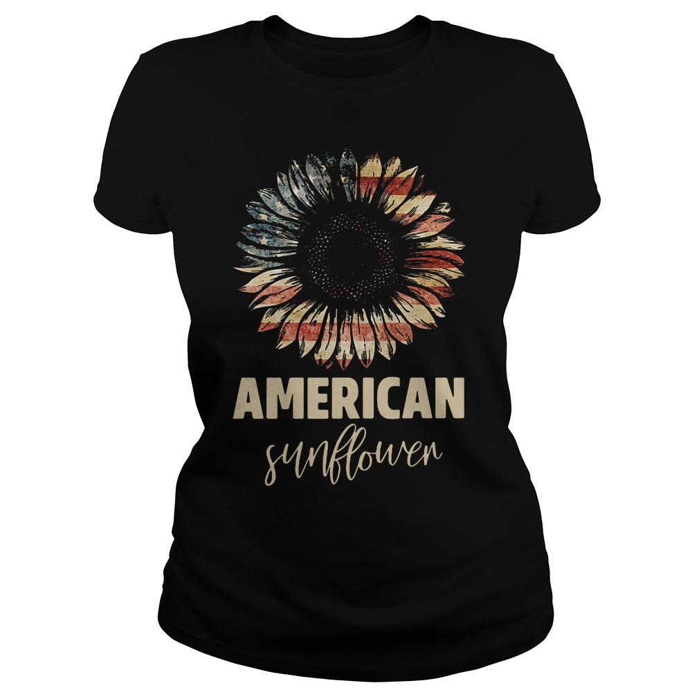 Official American Flag Sunflower Shirt