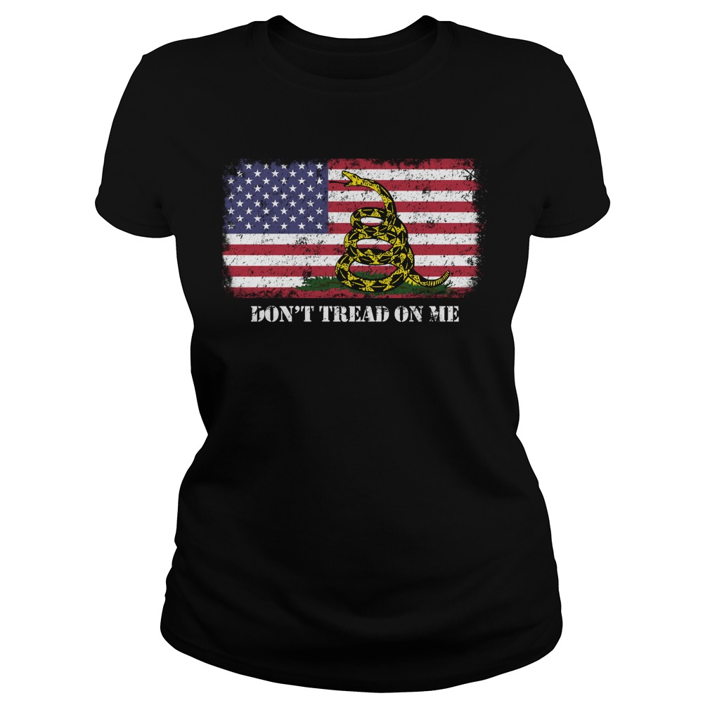 American Flag Don't Tread On Me Gadsden FlagShirt