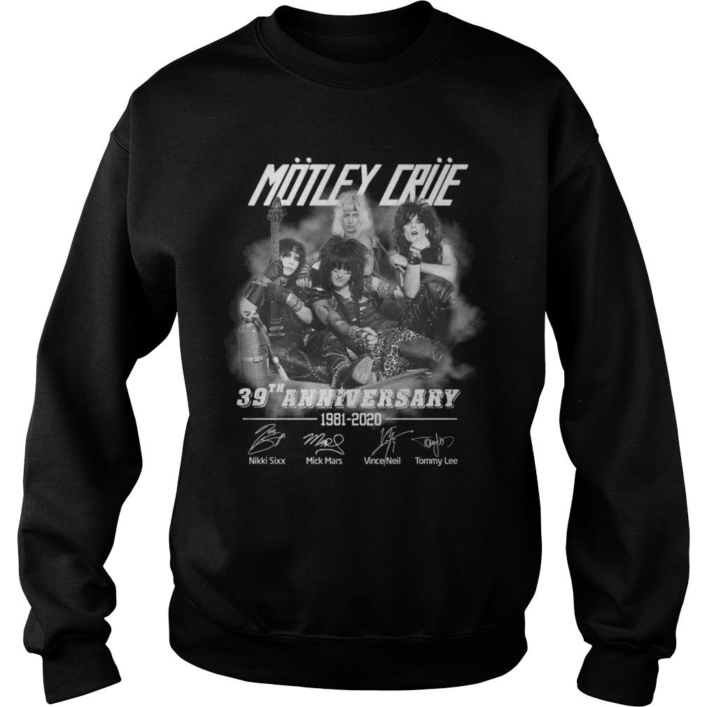Motley Crue 39th Anniversary 1981 2020Shirt