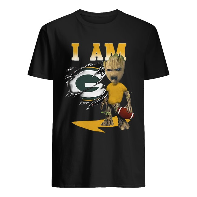BABY GROOT I AM GREEN BAY PACKERS SHIRT