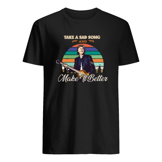 THE MAN SIT IN THE CHAIR PLAY GUITA AND DRINKS TEA SHIRT