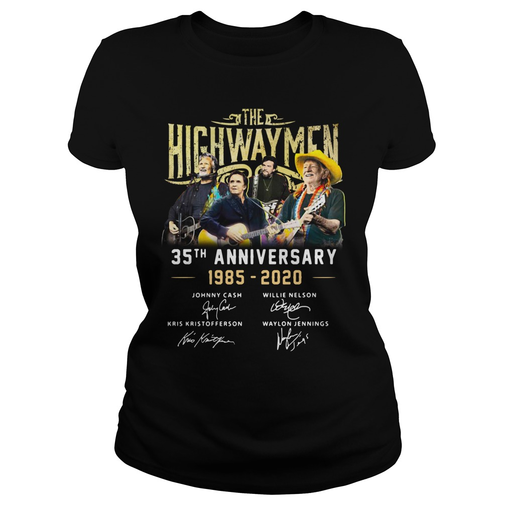 The Highwaymen 35th Anniversary 1985 2020 Signatures Shirt