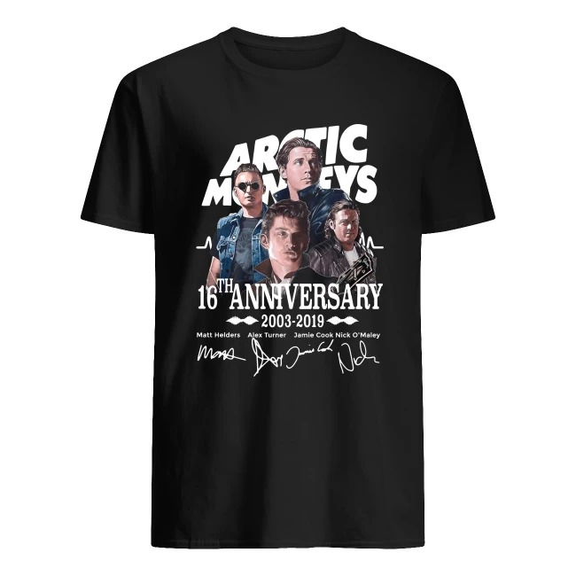 ARCTIC MONKEYS 16TH ANNIVERSARY 2003-2019 SIGNATURE SHIRT