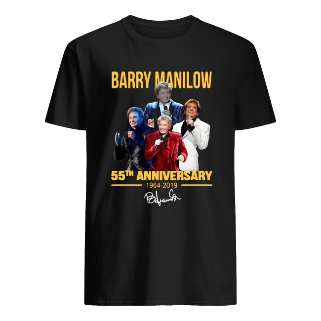 BARRY MANILOW 55TH ANNIVERSARY 1964-2019 SIGNATURE SHIRT