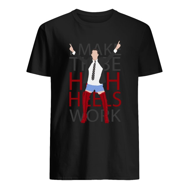 I MAKE THESE HIGH HEELS WORK-KINKY BOOTS BRENDON URIE SHIRT