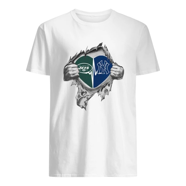 JETS YANKEES IT'S IN MY HEART INSIDE ME SHIRT