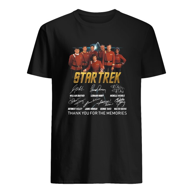 STARTREK THANK YOU FOR THE MEMORIES SIGNATURE SHIRT
