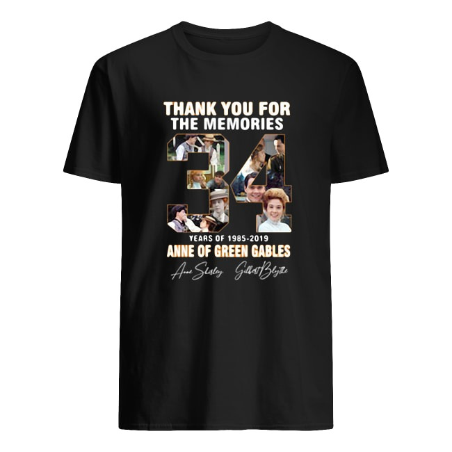 THANK YOU FOR THE MEMORIES 34 YEARS OF 1985-2019 ANNE OF GREEN GABLES SIGNATURE SHIRT