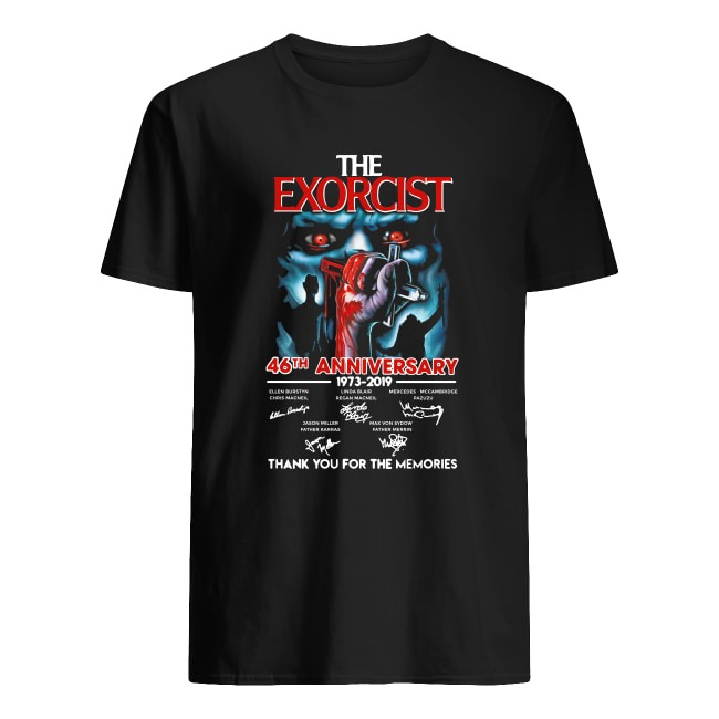 THE EXORCIST 46TH ANNIVERSARY 1973-2019 SIGNATURE THANK YOU FOR THE MEMORIES SHIRT
