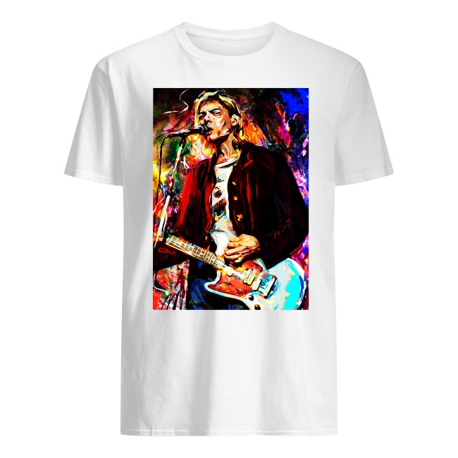 NIRVANA KURT COBAIN RED JACKET GUITAR SHIRT