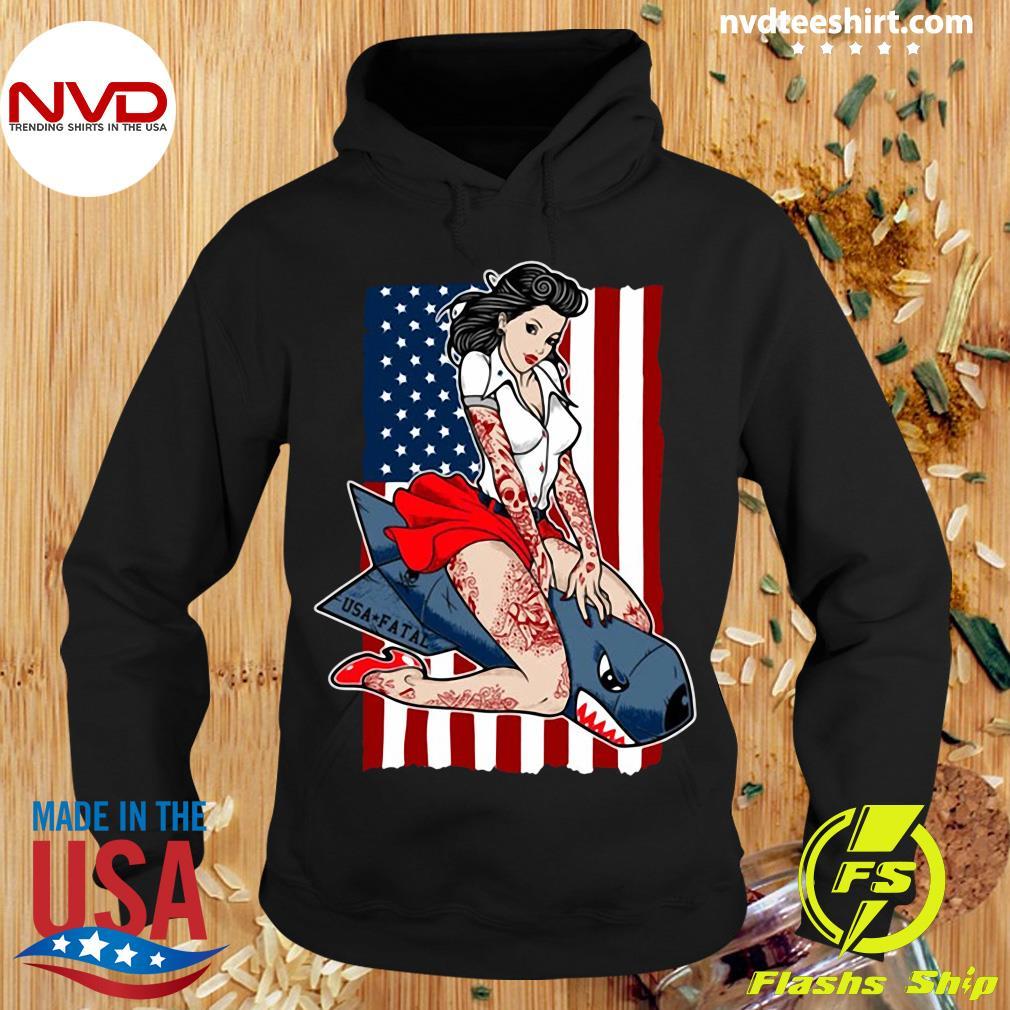 American Flag Miss America USA FatalShirt