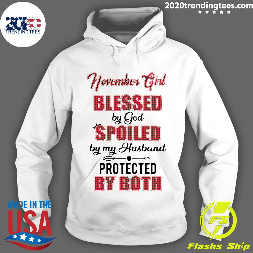 Official November Girl Blessed By God Spoiled By My Husband Protected By Both Shirt