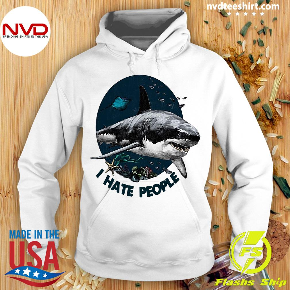 Shark I Hate People Vintage Shirt